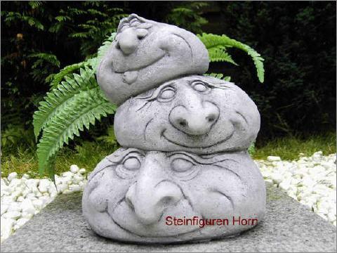 Steinfiguren Garten steingesichter skulptur aus steinguss für garten neu frostfest
